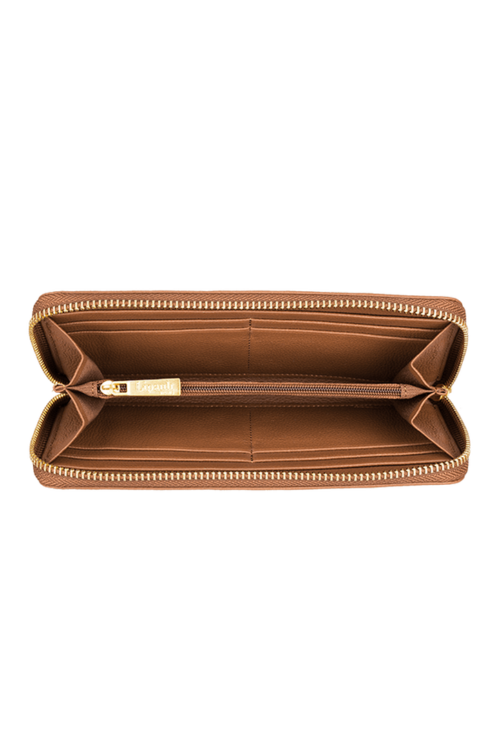 Plume Elegance Geldbörse Cognac | 2
