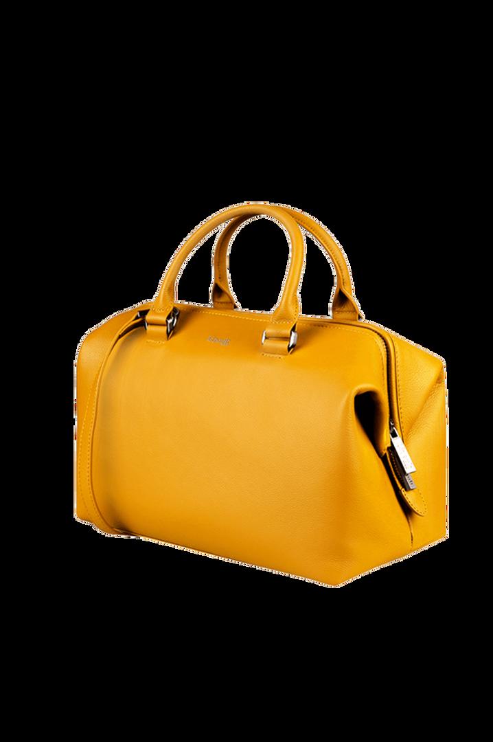 Plume Elegance Bowlingtasche Mustard   1