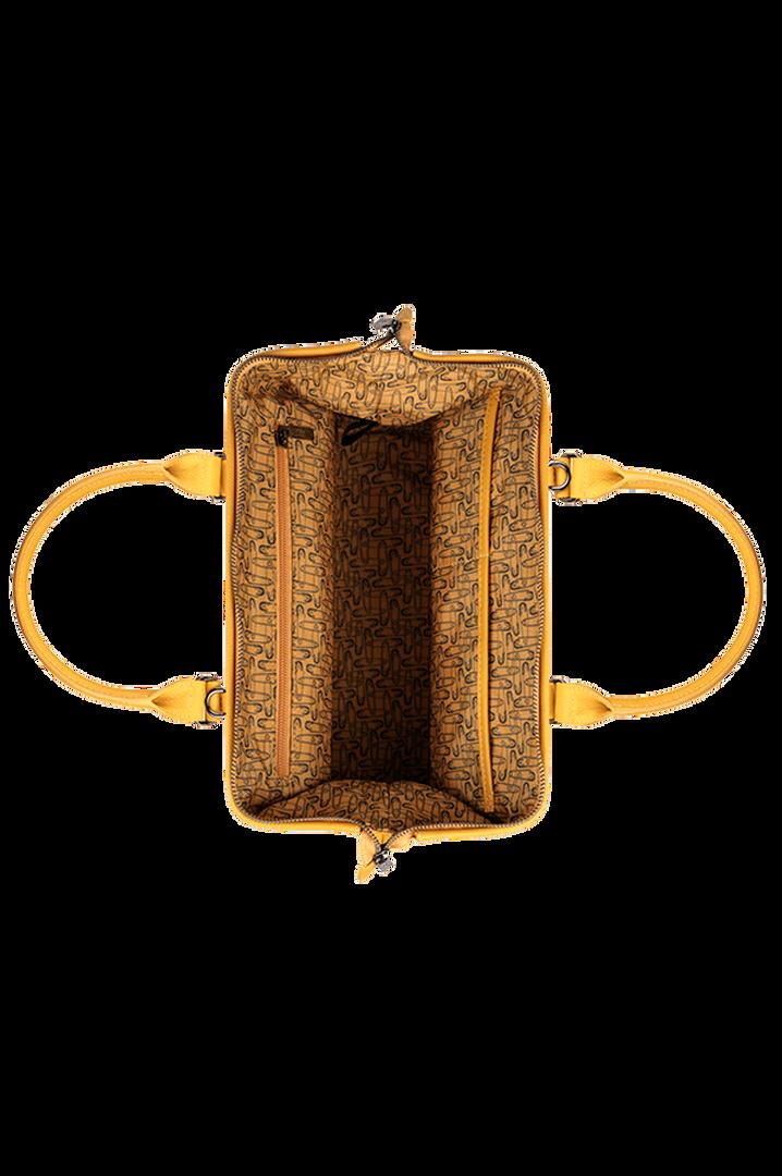 Plume Elegance Bowlingtasche Mustard   2