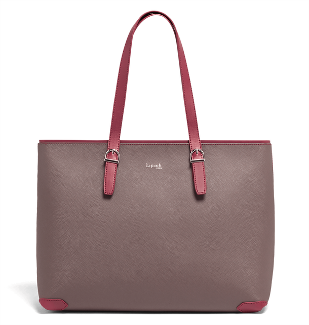 Variation Sac shopping Grey/Raspberry